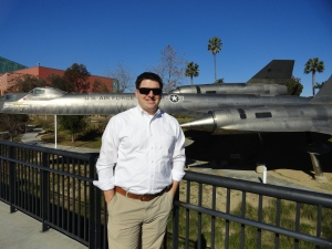 Dan Outside of the CA Science Center in Front of an A-12