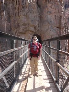 Dan Crossing Black Bridge