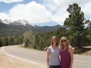 Road to Pikes Peak with the Mountain in the Background