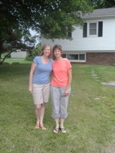 Carrie & Mom at Matt's New House