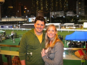Rainy Night at the Horse Races in Hong Kong - Dec. 2010