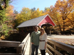 Covered Bridge Over Pemigewasset River