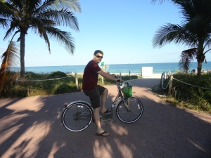 Riding Bikes in South Beach