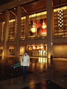 Snow Falling at Lincoln Center
