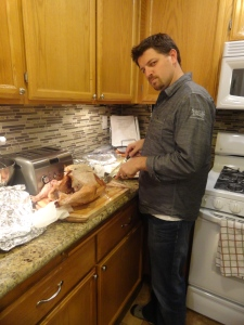 Dan Carving the Turkey