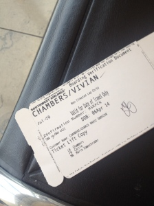 Vivian's First Airline Boarding Pass
