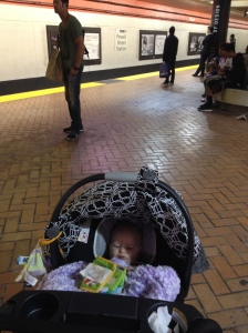 Vivian in the Powell Street BART Station