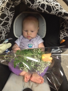 Vivian's First Flowers From Her Daddy