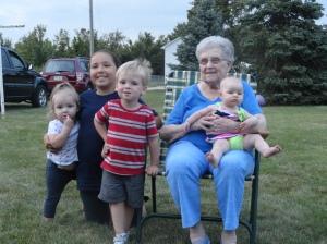 Grandma and Her Great Grandkids