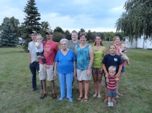 Grandma and Her Grand and Great Grand Kids (Minus Matthew)