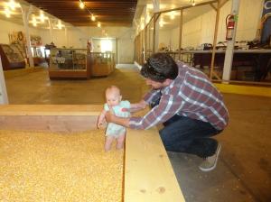 Vivian in a Corn Box at the Fair