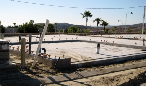 Next up, the concrete pad...