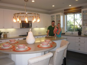 This is the model home's kitchen, but ours will look similar.