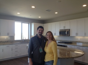 Standing in Our New Kitchen 10 Days Before Closing!