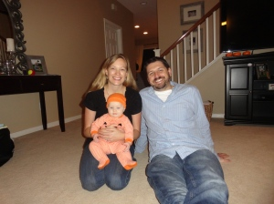 Family Photo on Halloween Night