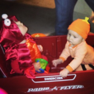 Trick-or-Treating with Jakob
