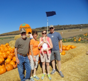 My Family at the Pile of Pumpkins
