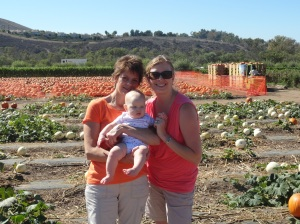 Three Generations in the Pumpkin Patch