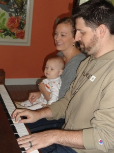 Vivian Listens Intently to Her Daddy Playing the Piano