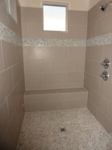Master Bathroom Tile is In! Not Pictured: Raincan Showerhead!