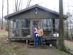 Family Picture in Front of Cabin