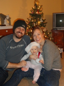 Family Christmas Photo in Front of Tree (4 Days After Christmas!)