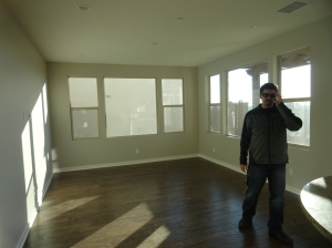 Living Room - Painted with with Wood Flooring