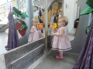Looking at the Pretty Baby in the Mirror