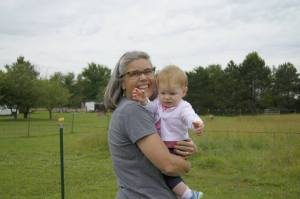 A Little Hesitant with Her Great Aunt Jane