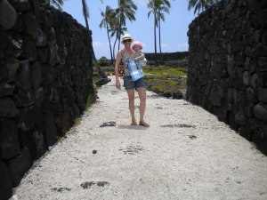 Walking Through the Old Gates at Pu'uhonua O Hōnaunau