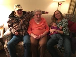Sleepy Visit with Grandma