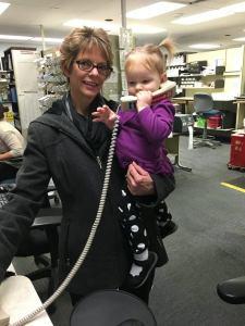 Vivian and Nana at Work