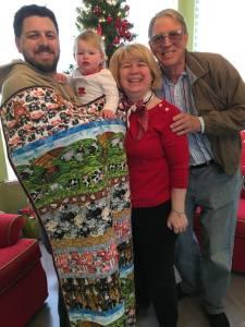 Vivian's Christmas Barnyard Quilt Made by Grandma