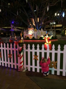 Watching Mickey Mouse During the Light Show