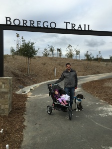 At the Borrego Trail Entrance