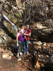 Family at Holy Jim Falls