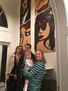 With My Cousin and His Girlfriend, Creators of the Art on the Wall