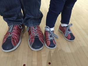 Daddy & Daughter in Matching Bowling Shoes!