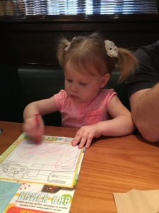 Coloring at Dinner