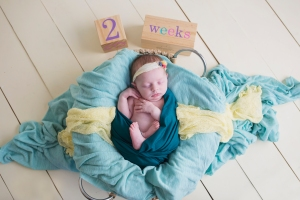 Newborn Photos at 2 Weeks Old