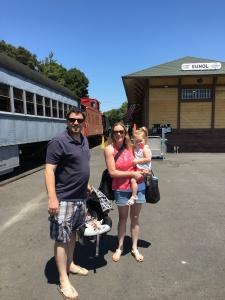 Boarding the Niles Canyon Railway
