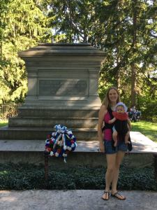 Lillian Visiting Her First Dead President (Rutherford B. Hayes)