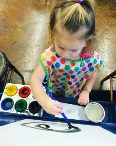 Painting at the Toledo Art Museum's Family Center