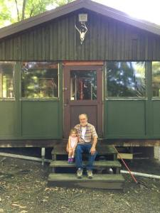 Papa and Vivian at the Cabin