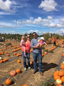 Family Photo in the Tanaka Farms Pumpkin Patch