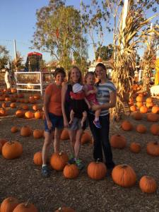 Pumpkin Patch with Nana and Aunt Anna