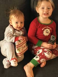 Chambers Girls in Their Christmas Jammies