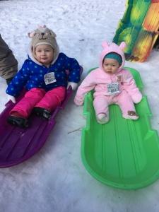 Sledding Sisters!